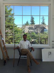 The artist Bo Bartlett on Wheaton Island.