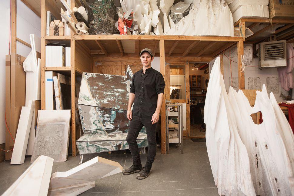 John Bianchi in his studio in Bushwick.