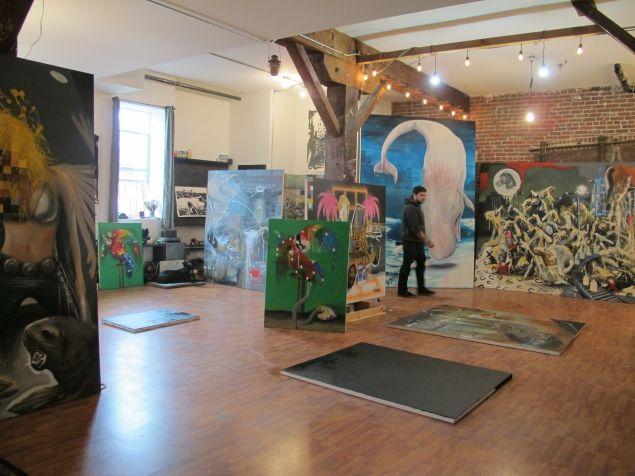 Brian Montuori in his downtown Los Angeles Studio.