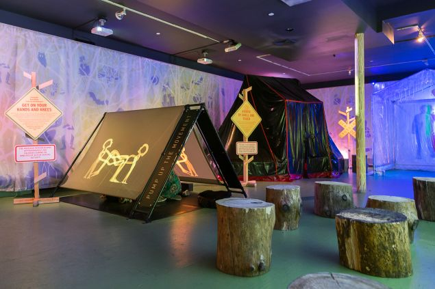 "The ""Splender in the Grass"" exhibition is an interactive kinesthetic camping ground."