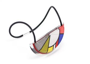 Op-Art Acrylic Necklace by Jennifer Merchant