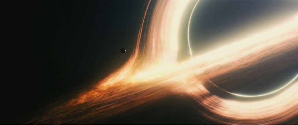Gargantua, the fictional black hole depicted in the film Interstellar.