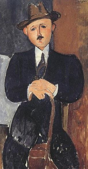 Amedeo Modigliani, Seated Man with a Cane, (1918).