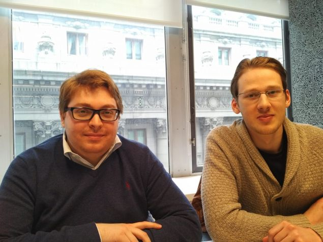 Left to right: Alexander Kabakov and Artem Kukharenko, co-founders of N-Tech Lab, the creators of FindFace.