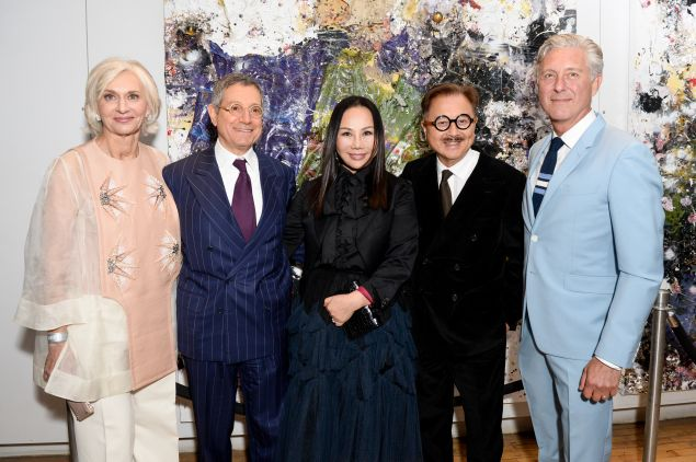 From left: Eileen Guggenheim, Jeffrey Deitch, Eva Chow, Michael Chow, David Kratz.