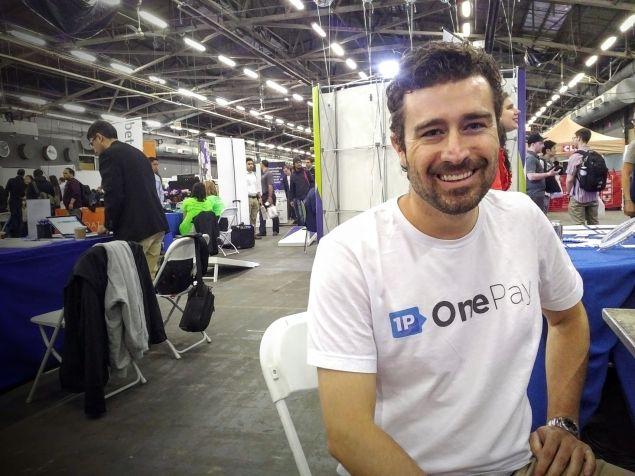 Kirk Logan, biz dev at OnePay, at Tech Day 2016.