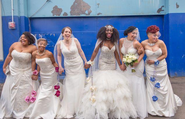 Six brides. One wedding.
