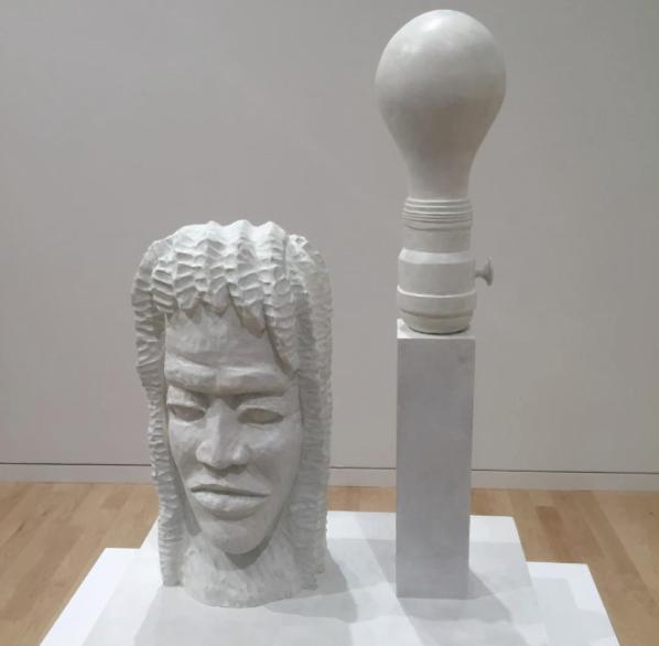 "A rare sculpture by Joe Bradley in his show ""Krasdale"" at Gagosian."