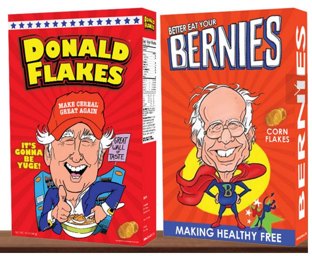 Donald Flakes and Bernies.
