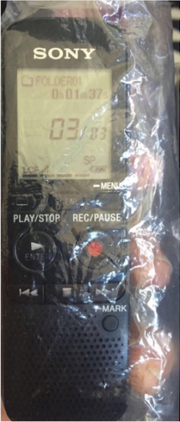 The Sony recorder that was allegedly found