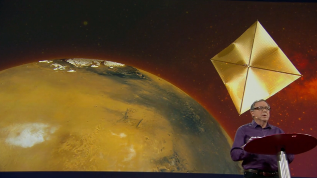 Using a solar sail, we can heat up Mars.