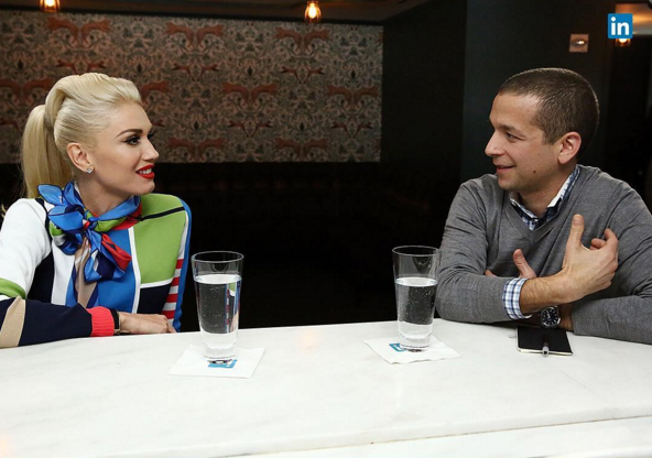 Proof everyone look awkward networking, including Gwen Stefani.
