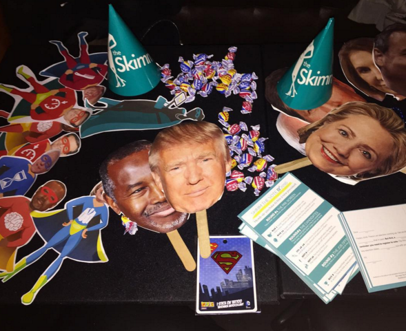 TheSkimm encourages readers to vote with #SkimmTheVote parties.