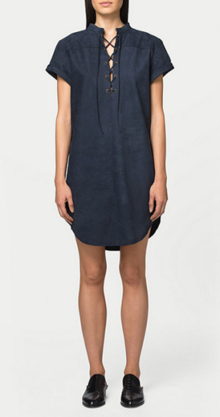 Suede Lace Up Dress, $829