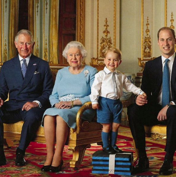 Prince George won't let anyone knock him off his throne yet.
