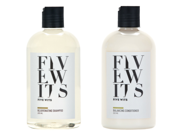 Five Wits shampoo and conditioner