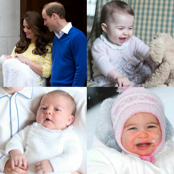 Princess Charlotte's collage for her first birthday.