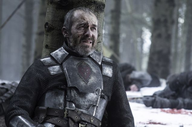 Stephen Dillane as Stannis Baratheon.