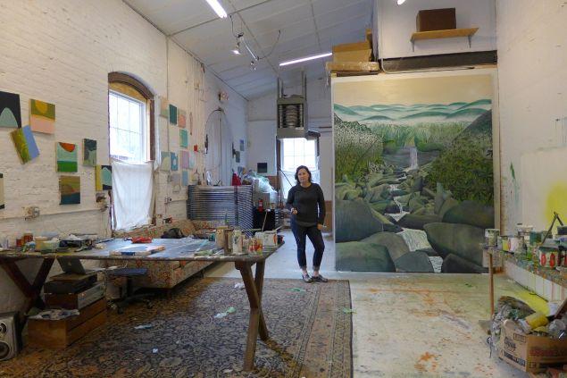 Sue McNally in her Newport, R.I., studio.