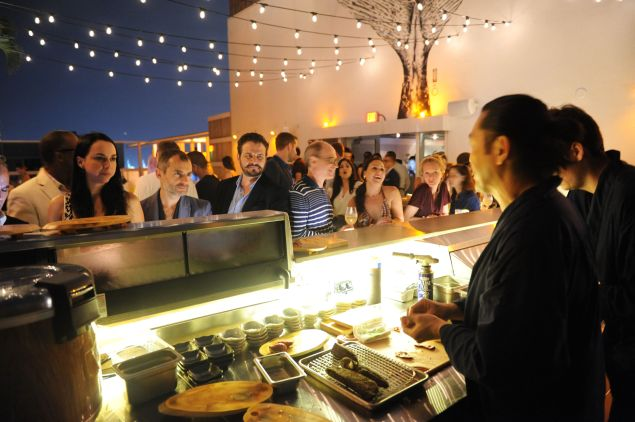 The sushi bar at Prey on a hot night in South Beach.