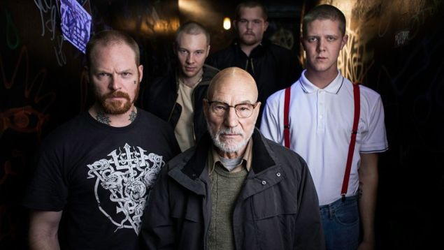 Patrick Stewart and his posse in Green Room.