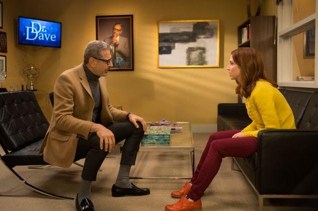 Jeff Goldblum and Ellie Kemper in Unbreakable Kimmy Schmidt.