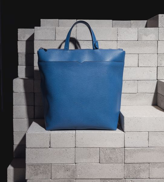 A Valextra bag with one of Mr. Dubois' designs