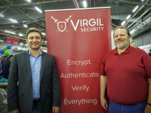 Dmitry Dain and Michael W. Wellman, co-founders of Virgil Security, at Tech Day 2016.