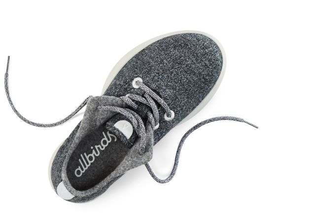 The Allbirds in grey