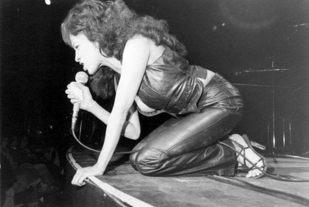 Ronnie Spector performing in Passaic, New Jersey.
