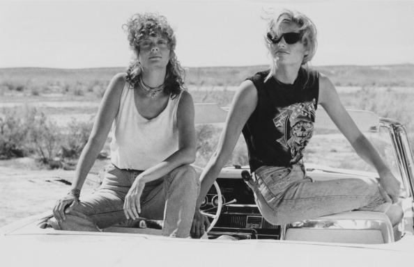 Susan Sarandon and Geena Davis star in Thelma And Louis.