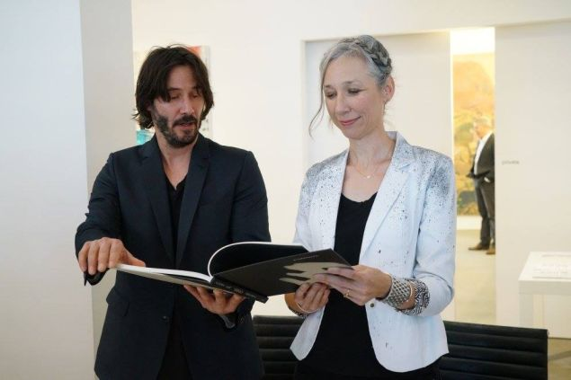 "Keanu Reeves and Alexandra Grant at ""Shadows"" reading and signing at ACME in Los Angeles."