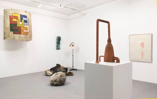 """Installation view of """"Divagation,"""" currently on view at Y Gallery."""