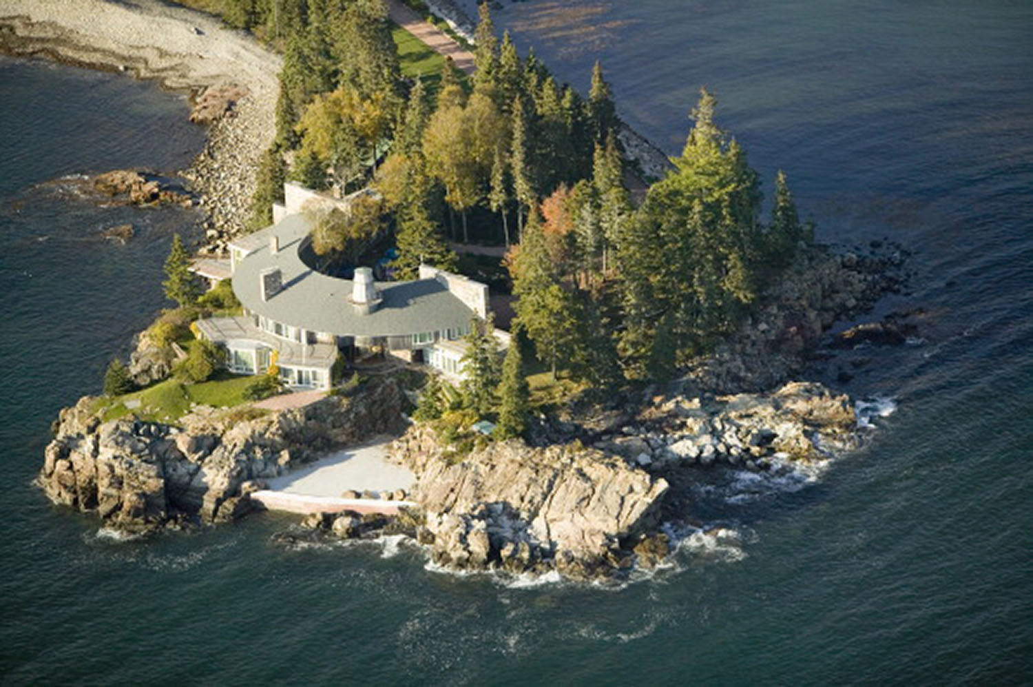 Aerial views of luxury home in Acadia National Park, Maine in autumn (Photo by Visions of America/UIG via Getty Images)