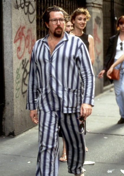 Director Julian Schnabel On Location for Filming of Movie 'Basquiat' on June 16, 1995 in SoHo Section of New York City, New York.