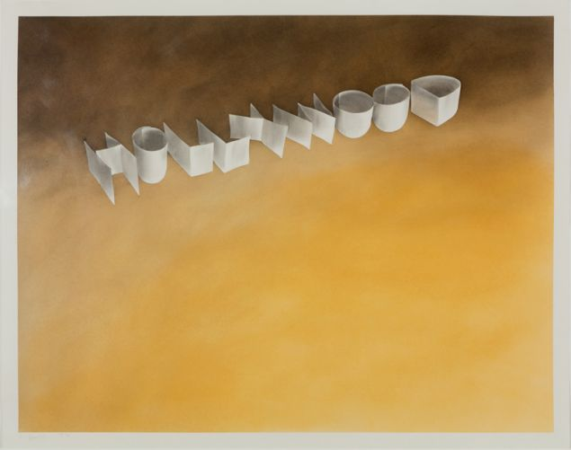 Ed Ruscha, Hollywood [#2], 1970. Private collection.
