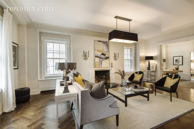 The actress spent five years renovating the duplex.
