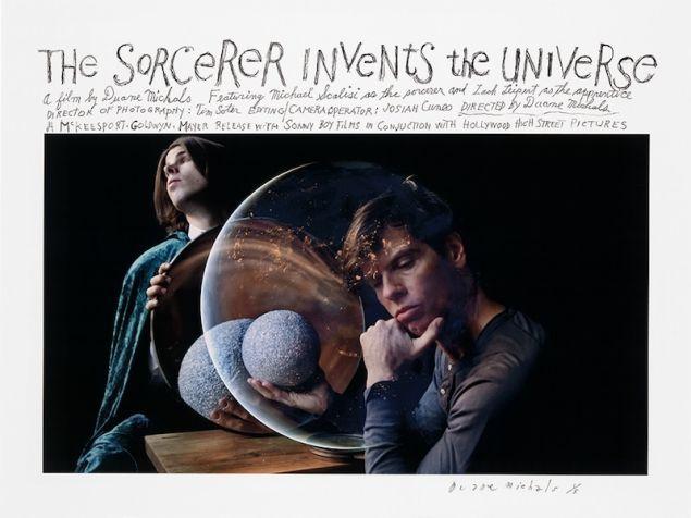 Duane Michals, The Sorcerer Invents the Universe, 2016.