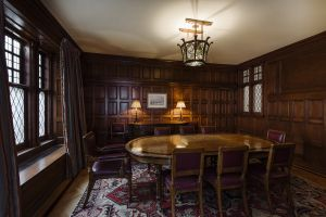 Original oak paneling and such.