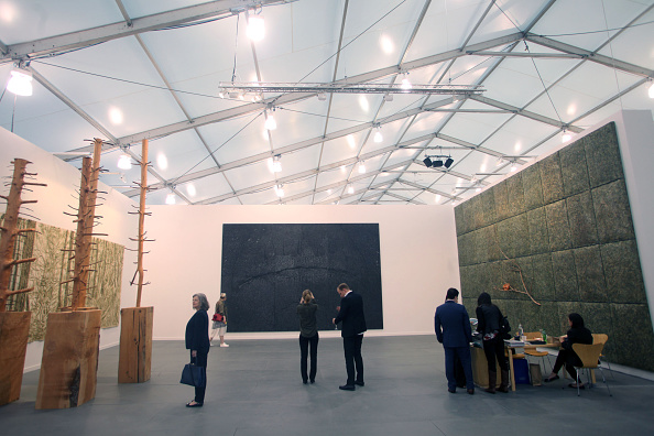 Visitors at the 2015 Frieze New York art fair on Randall's Island.