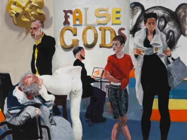 "Eric Fischl, She says, ""Can I help You?"" He says, ""It can't be Helped."", 2015. © Eric Fischl."