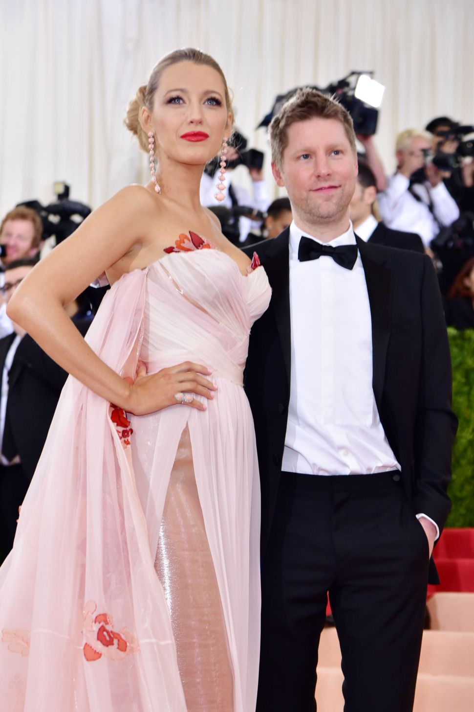 """Blake Lively, Christopher Bailey== Costume Institute Benefit at The Met Celebrates Opening of """"Manus x Machina"""" Exhibition== The Metropolitan Museum of Art, NYC== May 2, 2016== ©Patrick McMullan== Photo - Sean Zanni/PMC=="""