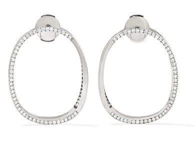Delfina Delettrez 18-Karat White Gold Diamond Earrings, $8,100, Net-A-Porter.com