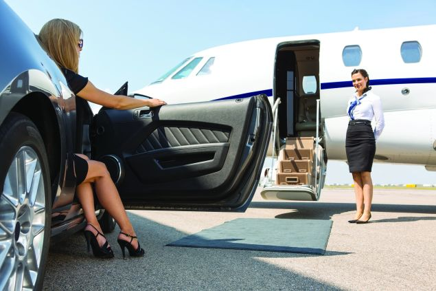Just an easy trip after dialing the private jet concierge.