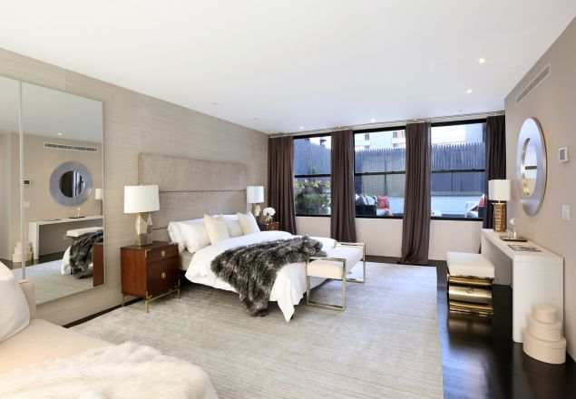 The master suite has its own private terrace, of course.
