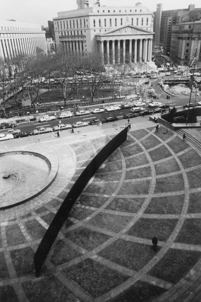 Richard Serra's Tilted Arc from 1981.