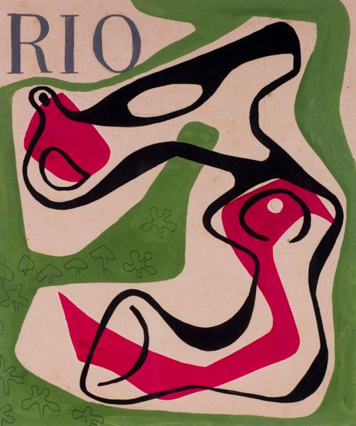Roberto Burle Marx, cover design for the magazine Rio, 1953.
