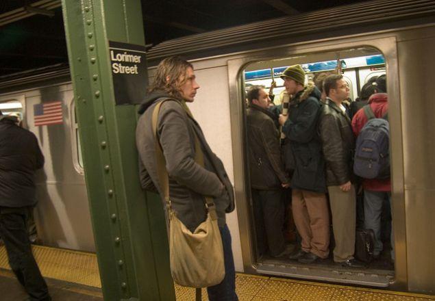 Subway crowding.