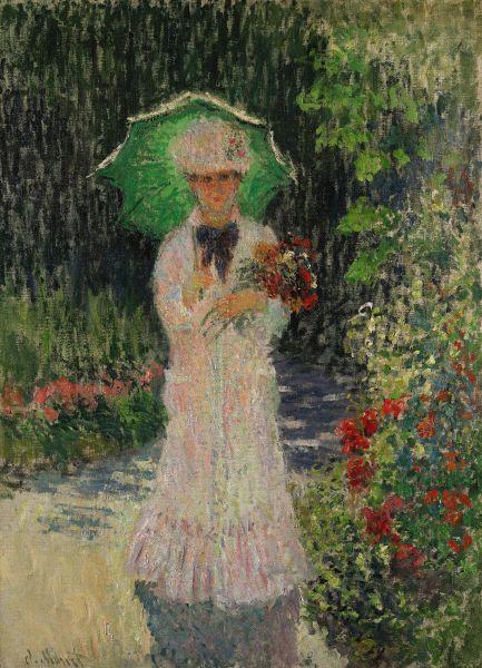 Claude Monet, Camille à l'ombrelle verte, (1876). Est. $9-12 million.
