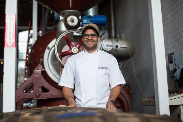 Roger Rodriguez, head chocolatier of Cacao Prieto, hails from the Dominican Republic, where all of the cocoa beans they use are from as well. 5/24/2016- Photo by Aaron Adler for The Commercial Observer